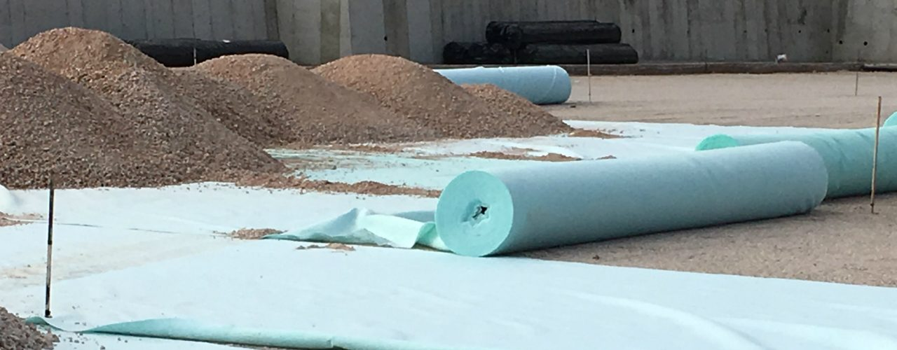 Geotextile non woven in construction project.