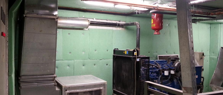 Εφαρμογή μονωτικού aritherm σε μηχανοστάσια για υψηλή ηχοαπορρόφηση